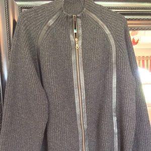 Neiman Marcus Cashmere and Lambskin Pub Jacket  Lg